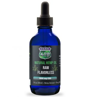 Raw + | 1,800mg CBD Drops Flavorless
